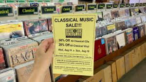 Classical Music Sale at Record Surplus