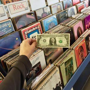 vinyl records sale 3 for 91 cents