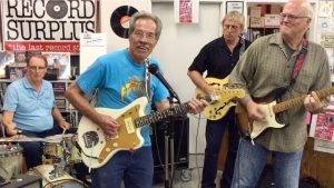 George Tomsco of The Fireballs at Record Surplus Los Angeles