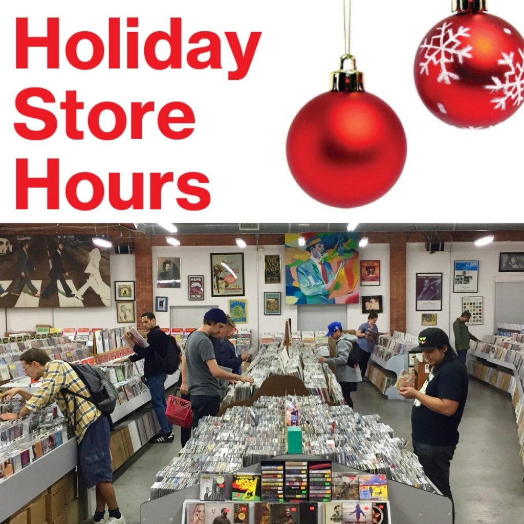 Holiday Hours Gifts Vinyl Records CDs DVDs