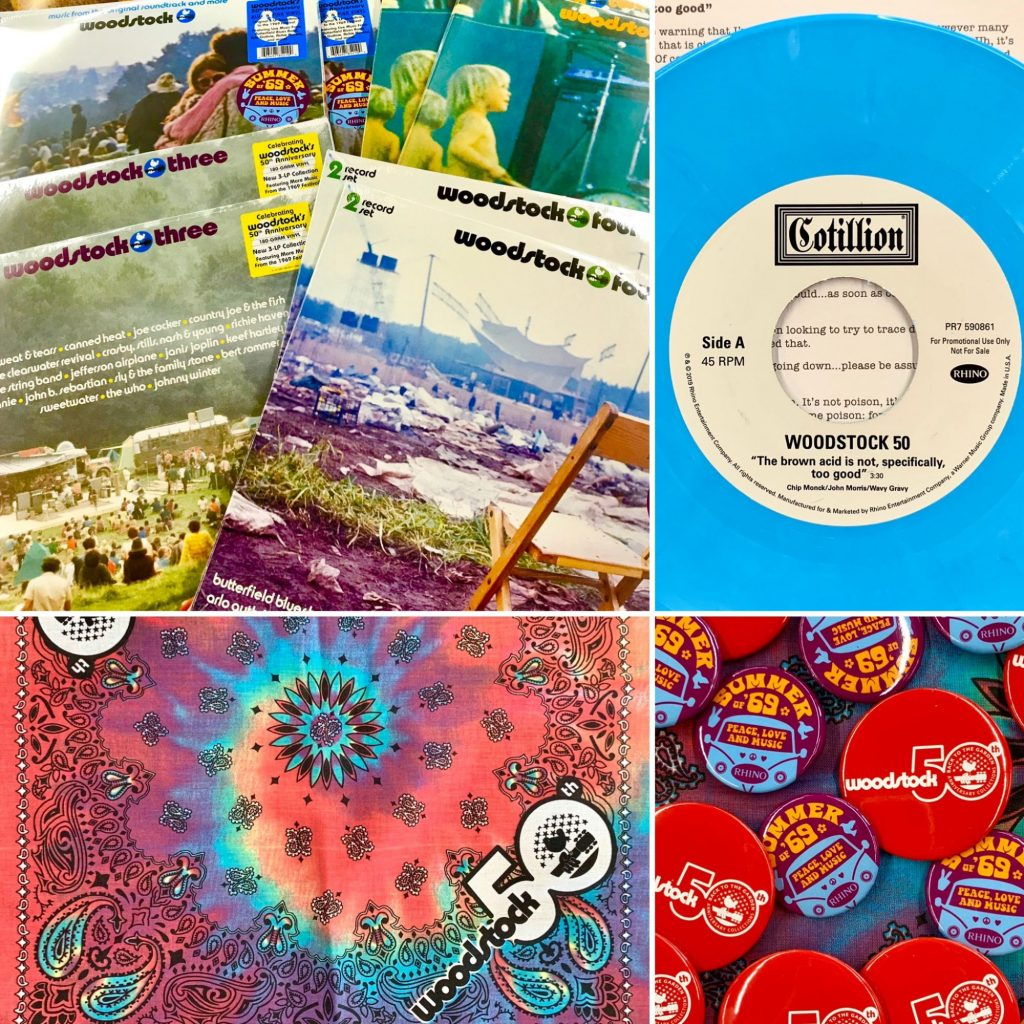 Woodstock 50th Anniversary new vinyl and free gifts