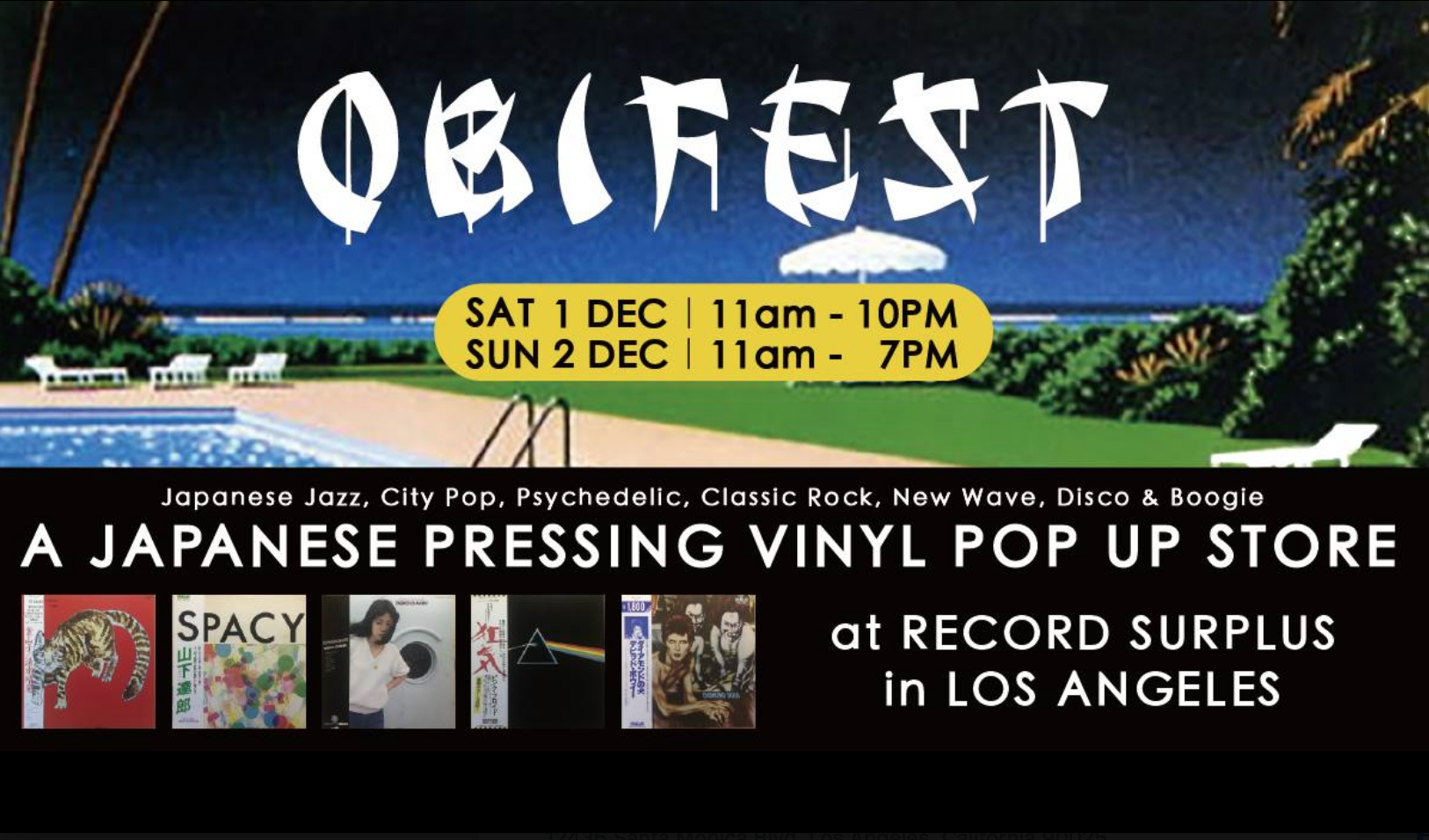 OBIFEST Japanese Vinyl Pop Up Shop at Record Surplus in Los Angeles